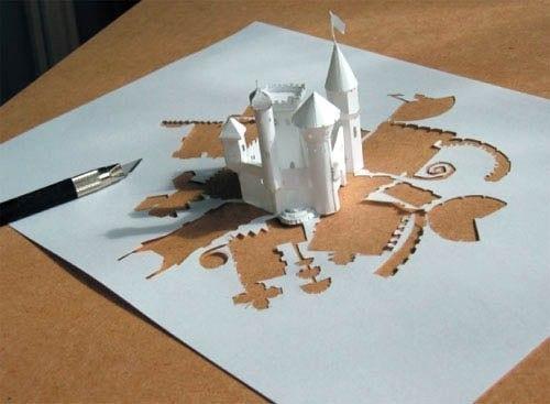 Как сделать из бумаги замок оригами